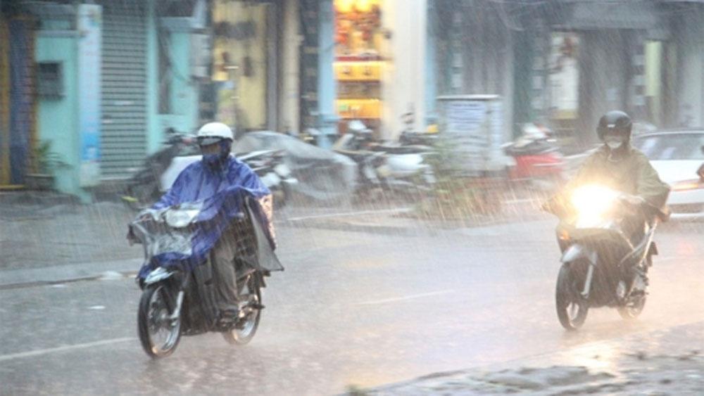 Miền Bắc, mưa rào, đêm 9-1, thời tiết ngày 8-1