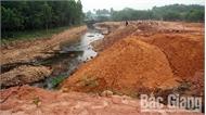 Việc lấp suối tại thị trấn Thanh Sơn (Sơn Động): Vi phạm vẫn gia tăng
