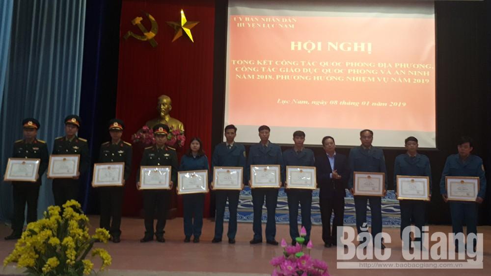 Huyện Lục Nam, Tổng kết công tác quốc phòng năm 2018