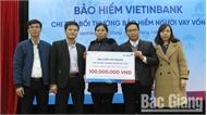 Công ty Bảo hiểm VietinBank Đông Bắc chi trả bồi thường khách hàng vay vốn