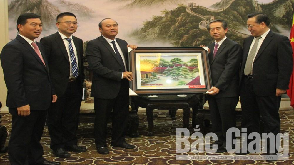 Chủ tịch UBND tỉnh Bắc Giang Nguyễn Văn Linh, Chúc mừng đại sứ quán TRung Quốc