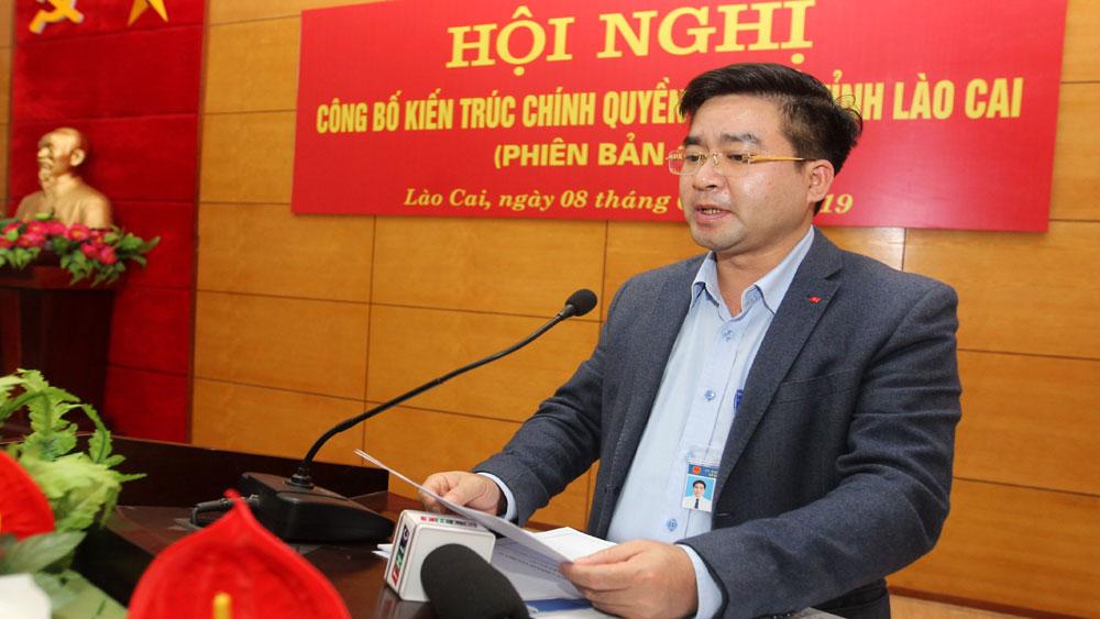 Công bố, kiến trúc, chính quyền điện tử tỉnh Lào Cai, UBND tỉnh Lào Cai