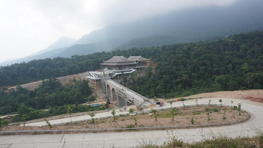Nhiều hạng mục công trình được xây dựng tại Khu du lịch tâm linh-sinh thái Tây Yên Tử (Sơn Động) Ảnh minh họa