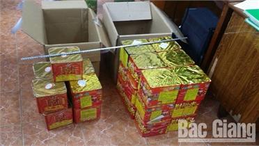 Bắc Giang bắt hai vụ vận chuyển gần 1 tạ pháo nổ