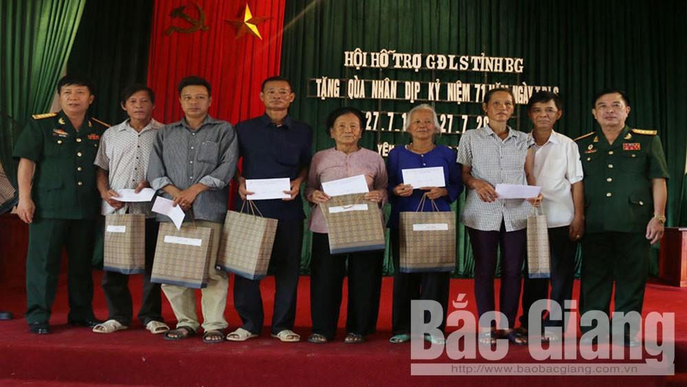 Hội Hỗ trợ, gia đình, liệt sĩ ,tỉnh Bắc Giang, hoạt động, tri ân, thân nhân