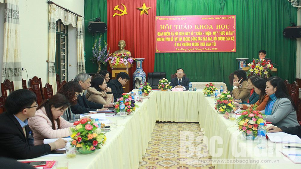 Bắc Giang, tuyên giáo, chính trị, chân, thiện, mỹ, đức, tài, cán bộ, công chức, địa phương