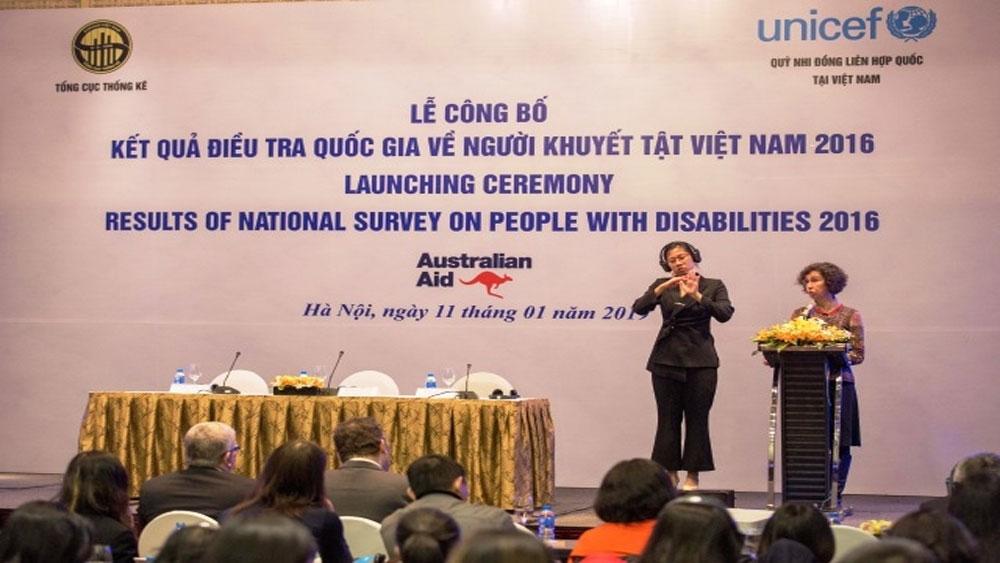 Kết quả điều tra quy mô lớn đầu tiên về người khuyết tật