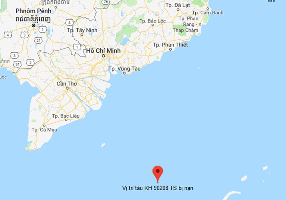 Khẩn trương, tìm kiếm, 10 thuyền viên mất tích, vùng biển phía Nam