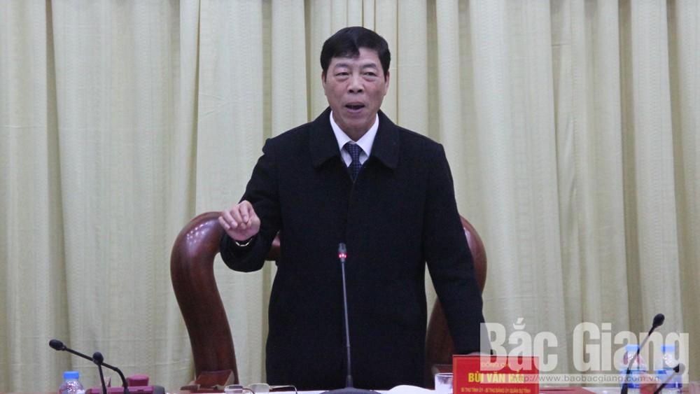 Bí thư Tỉnh ủy Bùi Văn Hải: Tập trung cao thực hiện nhiệm vụ diễn tập khu vực phòng thủ tỉnh năm 2019