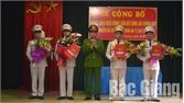 Công bố quyết định điều động công an chính quy về nhận nhiệm vụ tại thị trấn Cao Thượng