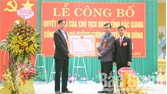 Xã Thắng Cương đón nhận quyết định đạt chuẩn nông thôn mới