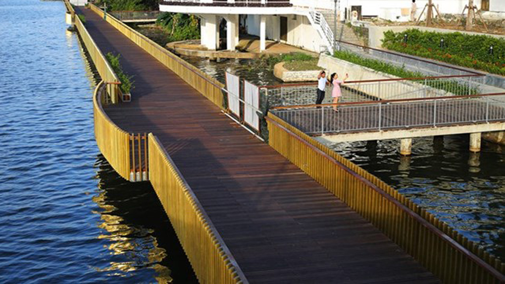 RoK-funded wooden walk, Huong river, Thua Thien-Hue province, Korea International Cooperation Agency, KOICA, symbol of friendship, people-to-people linkage