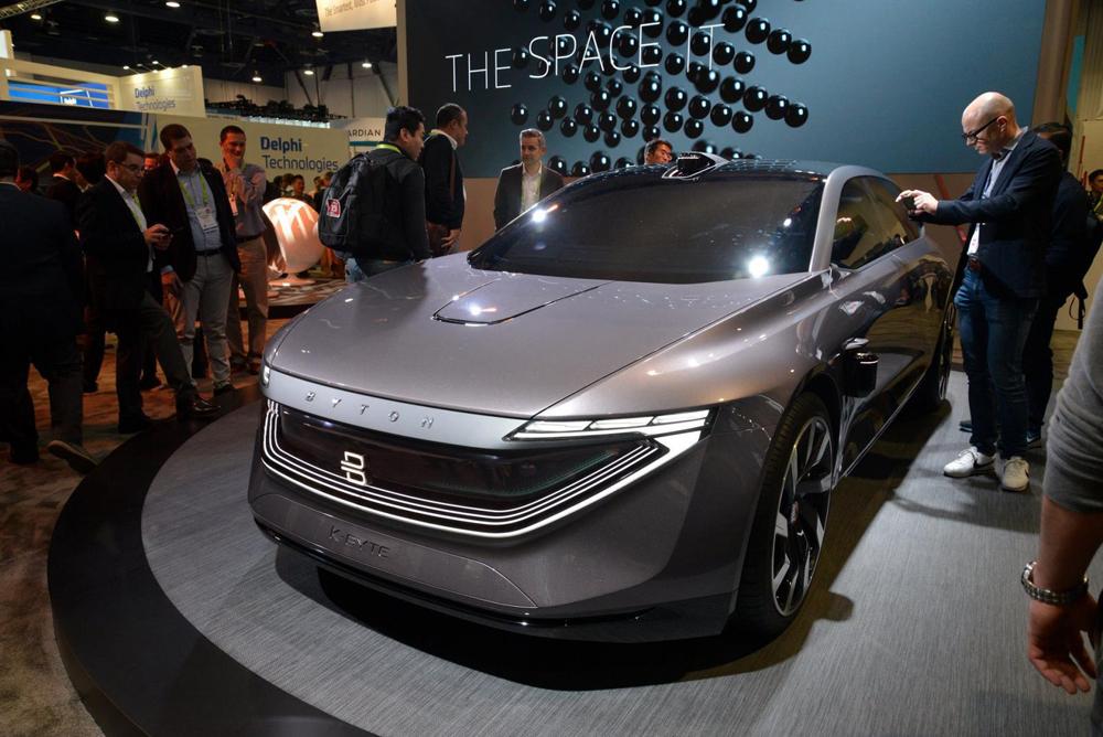 Ô tô điện, xe điện Byton, Trung Quốc, gây choáng, trang bị, hiện đại, triển lãm CES