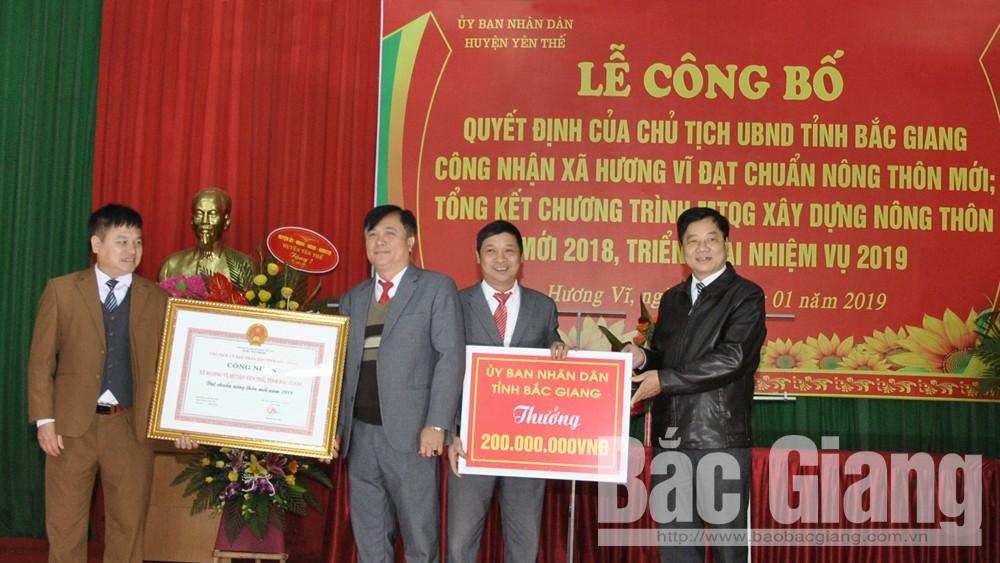 Xã Hương Vĩ (Yên Thế) đạt chuẩn nông thôn mới