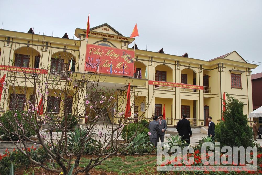 Công bố Quyết định xã Hương Vĩ đạt chuẩn nông thôn mới, yên thế bắc giang xây dựng nông thôn mới, xã hương vĩ