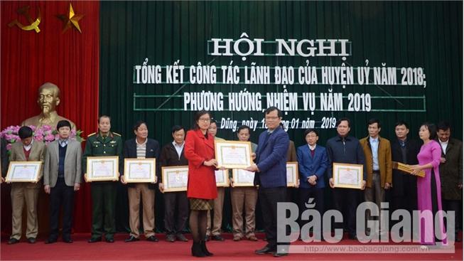 Phấn đấu năm 2019 cơ bản hoàn thành các mục tiêu Nghị quyết Đại hội Đảng bộ huyện Yên Dũng khóa XXI