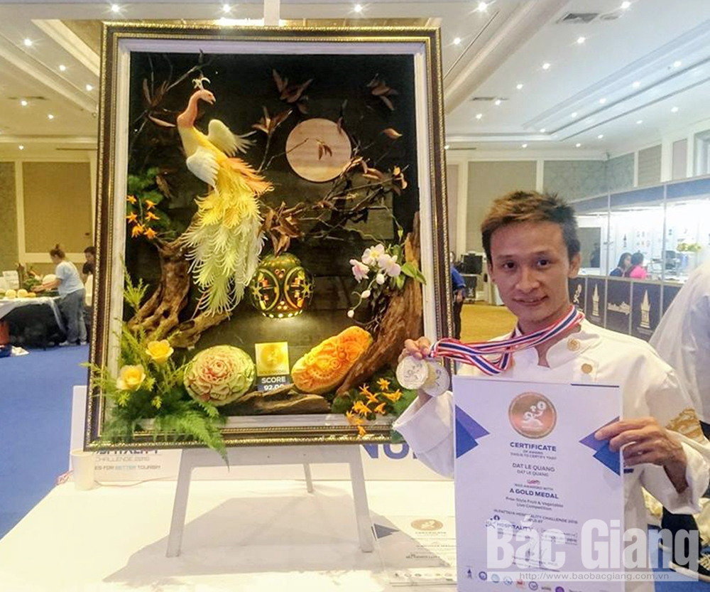 Le Quang Dat, young man, golden hands, meticulousness and skillfulness, costumers' demands, strange and exquisite dragon, passion for cooking, Master Chef Vietnam, Pattaya hospitability challenge