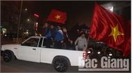 Người hâm mộ Bắc Giang mừng chiến thắng của đội tuyển quốc gia Việt Nam