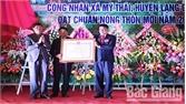 Xã Mỹ Thái đón nhận quyết định đạt chuẩn nông thôn mới