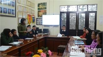 Củng cố tổ chức đảng ở Tân Yên