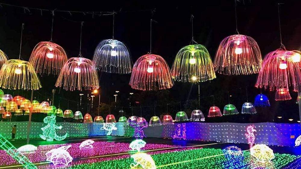 Lần đầu tiên trình chiếu hiệu ứng ánh sáng nghệ thuật tại TP Bắc Giang