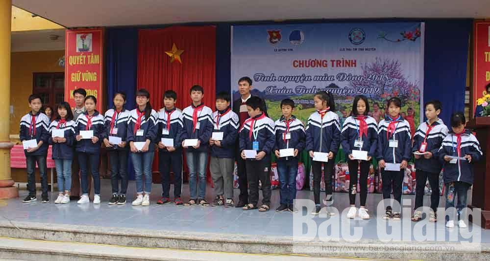Bắc Giang, Yên Dũng, Quỳnh Sơn, thanh niên, trẻ em, học sinh, hoàn cảnh khó khăn