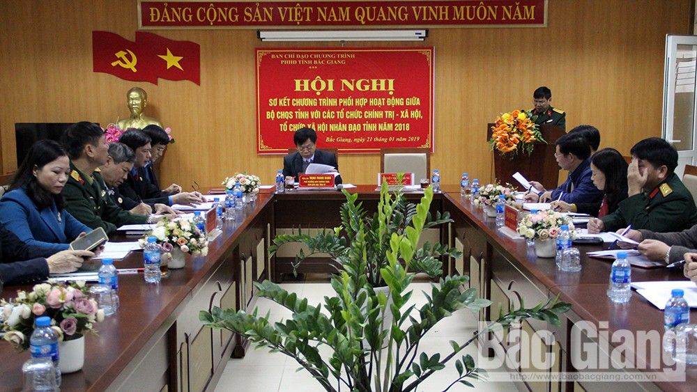Nâng cao hiệu quả phối hợp giữa Bộ CHQS tỉnh với các tổ chức chính trị- xã hội, xã hội nhân đạo