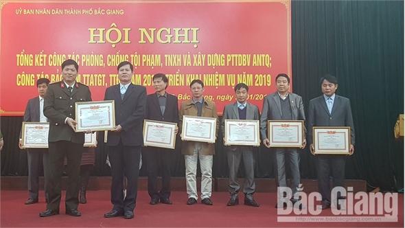 TP Bắc Giang tập trung cao bảo đảm an ninh trật tự đô thị, an toàn giao thông