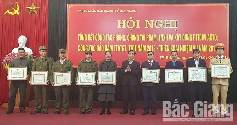 Tổng kết công tác phòng chống tội phạm, TNXH, ATGT, TP Bắc Giang, Bắc  Giang