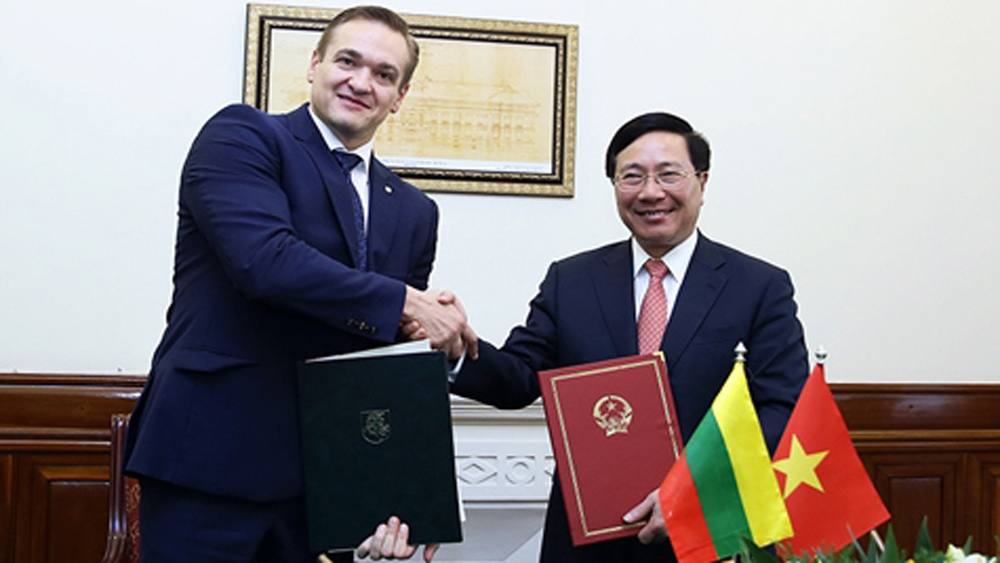 Vietnam, 85th visa exemption agreement, Minister of the Interior of Lithuania, Deputy Prime Minister and Foreign Minister, diplomatic passport holders