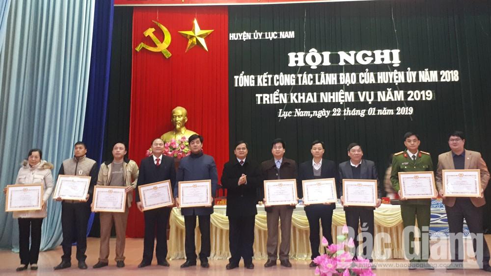 Huyện ủy Lục Nam triển khai nhiệm vụ năm 2019