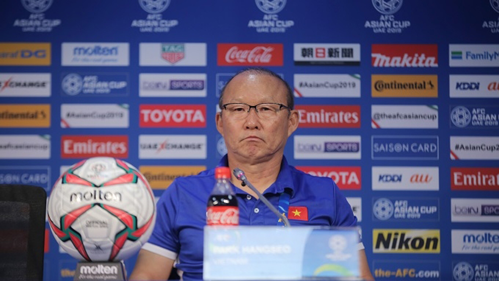 Vietnam coach, Park Hang-seo, triumph, Japan team, Asian Cup, semifinal berth, quarterfinals, 2019 Asian Cup, strong team, continental champions
