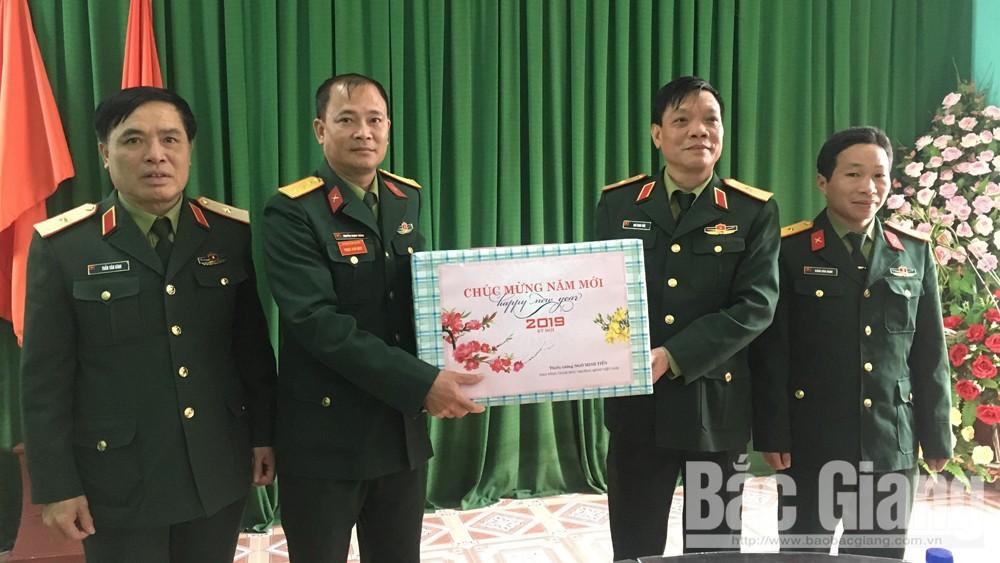 Thiếu tướng Ngô Minh Tiến, Phó Tổng tham mưu trưởng, Quân đội Nhân dân Việt Nam, kiểm tra, chúc tết huyện Sơn Động