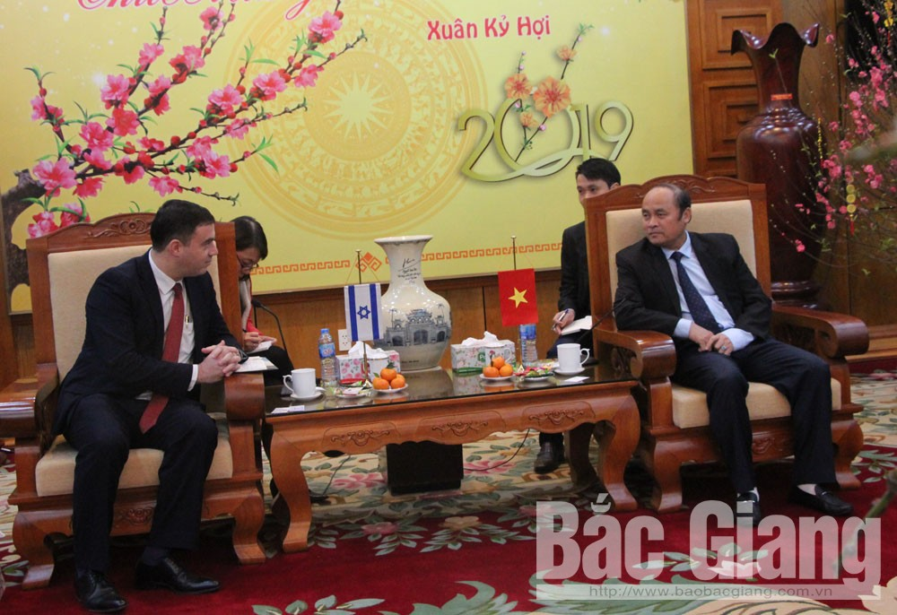 Provincial Chairman, Bac Giang province, Israeli Ambassador to Vietnam,  upcoming Lunar New Year, agricultural development, product processing, post-harvest preservation, Juran technology