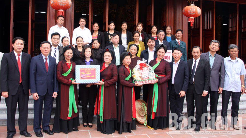 Đoàn công tác tỉnh Bắc Ninh thăm làng quan họ cổ Nội Ninh, huyện Việt Yên