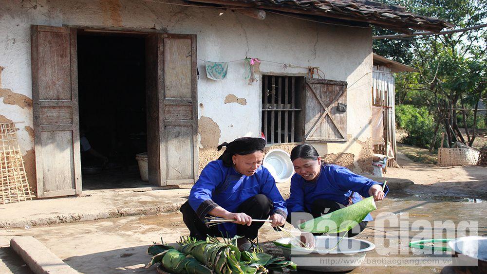 Người Nùng ở thôn Bắc Hoa, xã Tân Sơn (Lục Ngạn) đón Tết