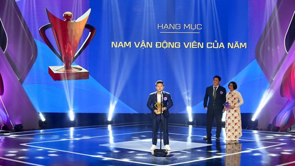 Victory Cup gala, best athletes, coaches, Long jumper Bui Thi Thu Thao, Female Athlete of the Year, Most Favourite Athlete of the Year,