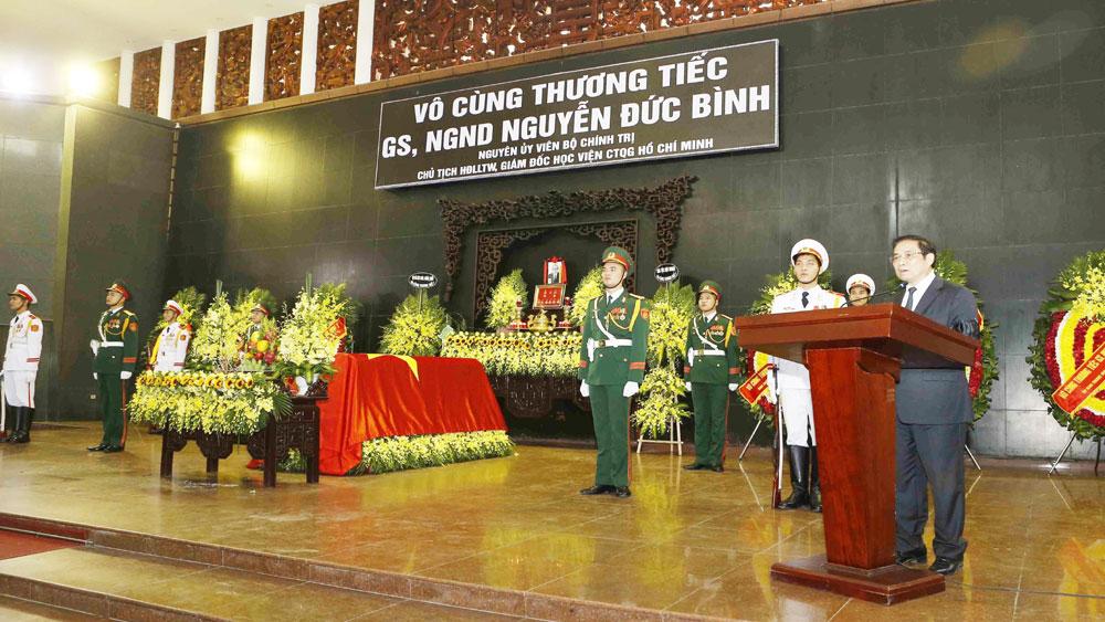 Lễ viếng, an táng đồng chí Nguyễn Đức Bình tại quê nhà - thị xã Hồng Lĩnh, tỉnh Hà Tĩnh