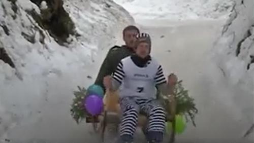 Đua xe kéo có sừng vượt dốc núi tại Đức
