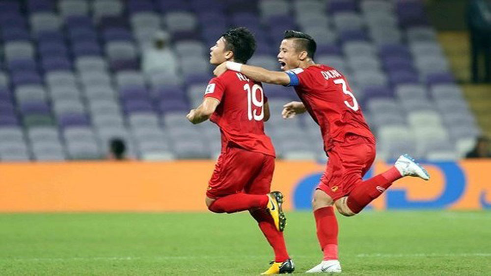 Vietnamese midfielder, Best Goal Award, Asian Cup, Nguyen Quang Hai, left-footed free-kick effort, Best Goal