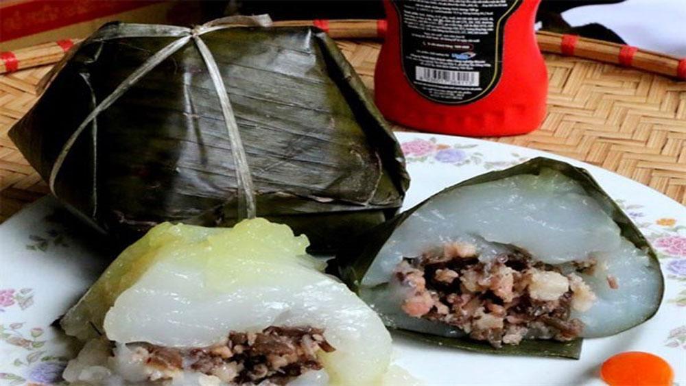 Banh gio, softest rice dough dumpling, wood ear mushrooms,  breakfast dish, after-school supper dish,  myriad Vietnamese dishes