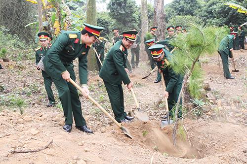 Lữ đoàn Phòng không 673, Tết trồng cây, 2019