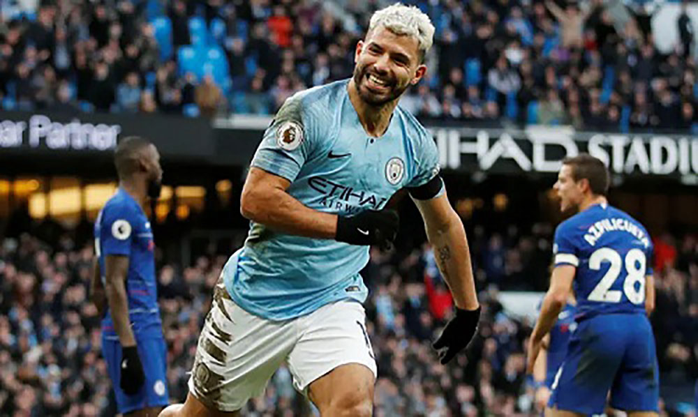 Aguero, hat-trick, Man City, Chelsea