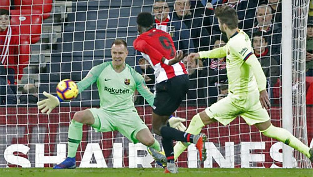 Barca bị chia điểm trên sân Bilbao