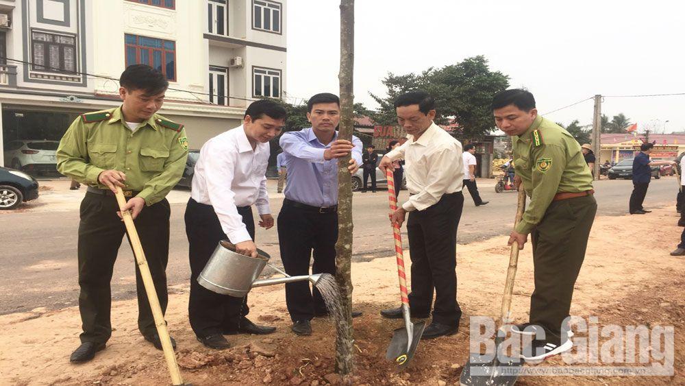 Lạng Giang trồng 250 cây Sao Đen tại lễ phát động Tết trồng cây