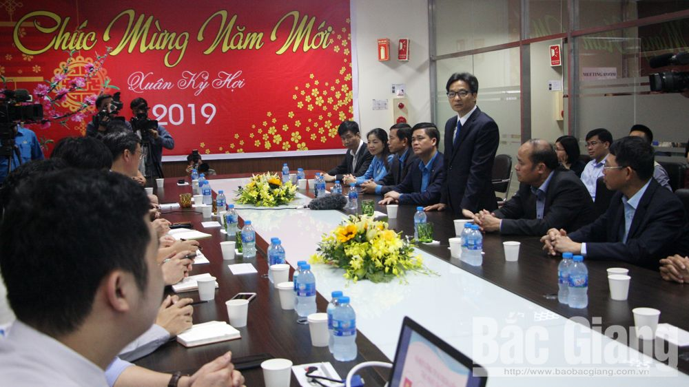 Deputy PM Vu Duc Dam, Bac Giang province, enterprises and laborers, Tet holiday, Lunar New Year, disadvantaged workers,  healthcare, environmental protection