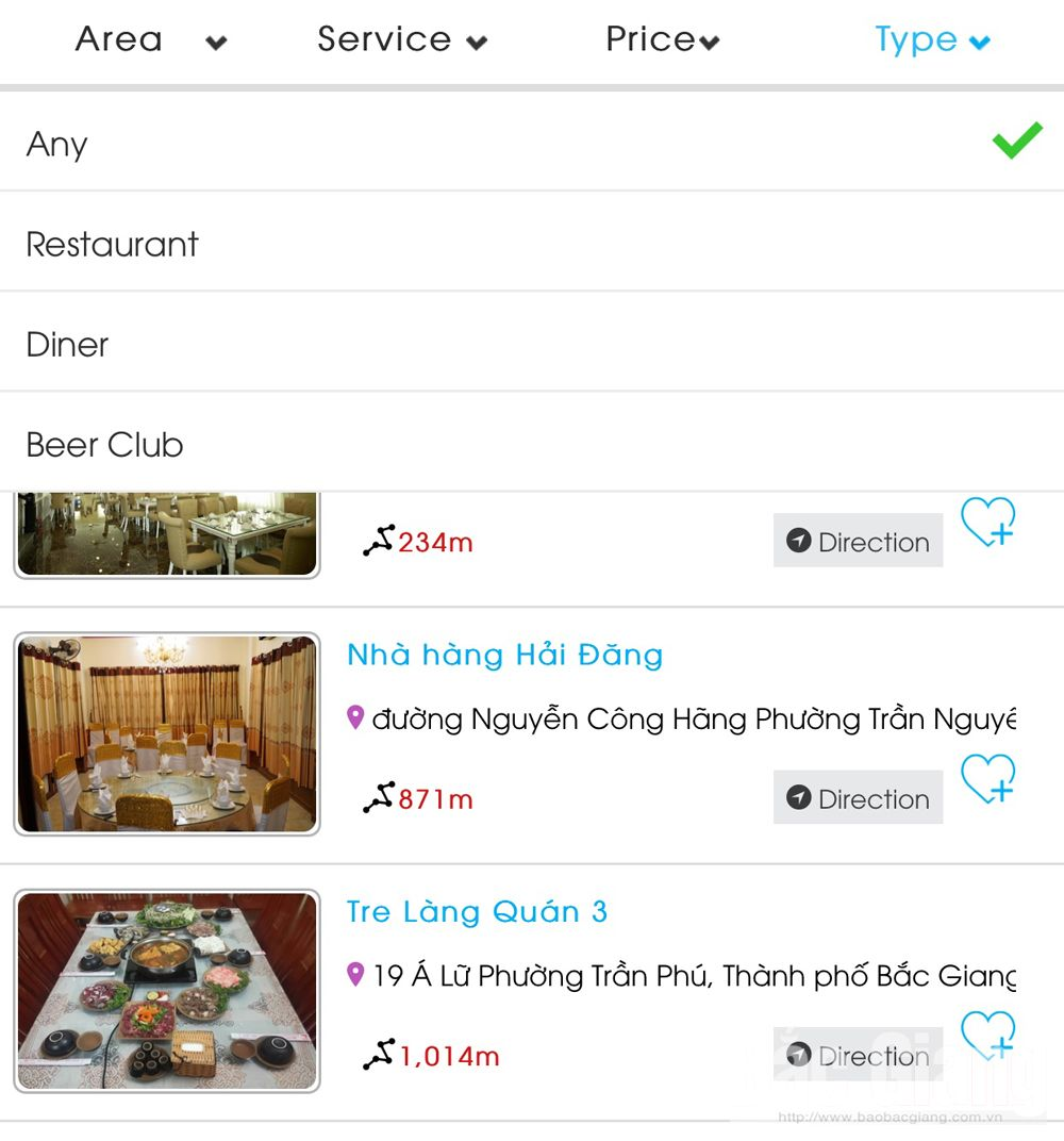 Bac Giang province, smart travel application, Bac Giang Tourism, trial running, Department of Culture, Sports and Tourism, Android, IOS operating system