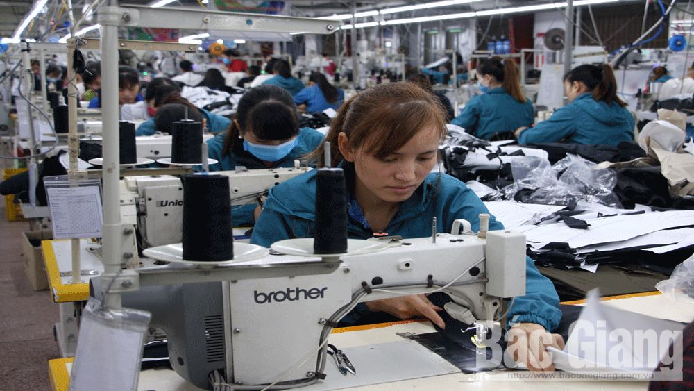 Bac Giang province, industrial zones and clusters, stable work, after Tet holiday, high sense of discipline, business plans, busy working atmosphere