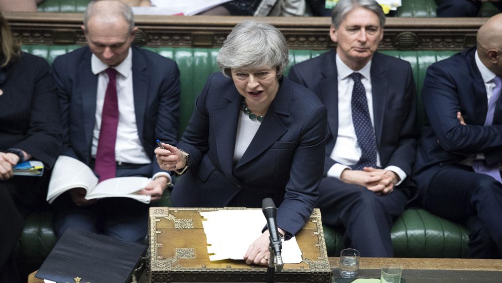 Quốc hội Anh bác kiến nghị của Thủ tướng Theresa May về Brexit