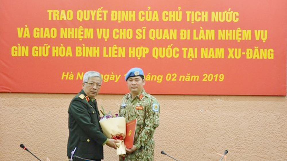 Another Vietnamese officer assigned peacekeeping duty in South Sudan
